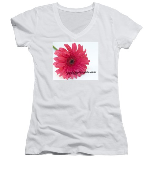 Beauty And Simplicity Women's V-Neck T-Shirt