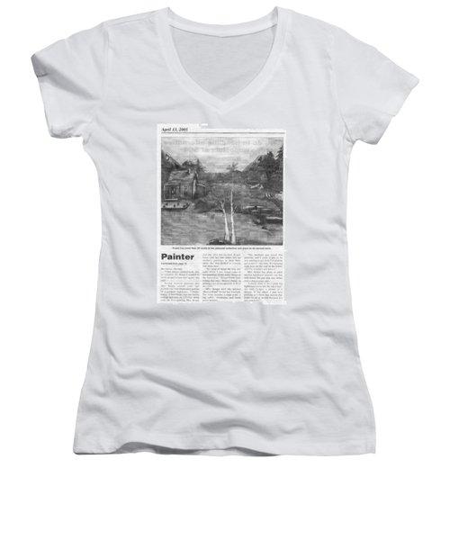 Beaver Pond - Article - Mary Krupa Women's V-Neck T-Shirt