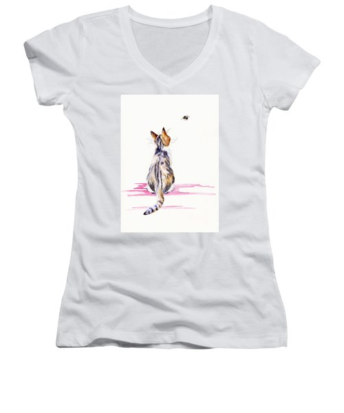 Bee-mused Women's V-Neck (Athletic Fit)