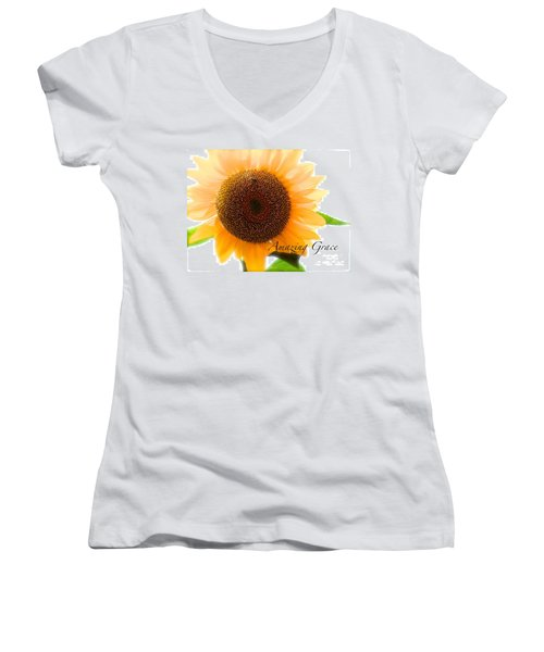 Bee Still Women's V-Neck T-Shirt