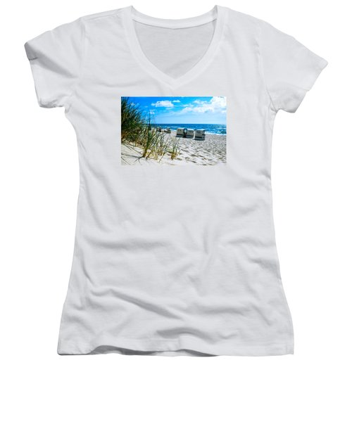Behind The Dunes -light Women's V-Neck (Athletic Fit)