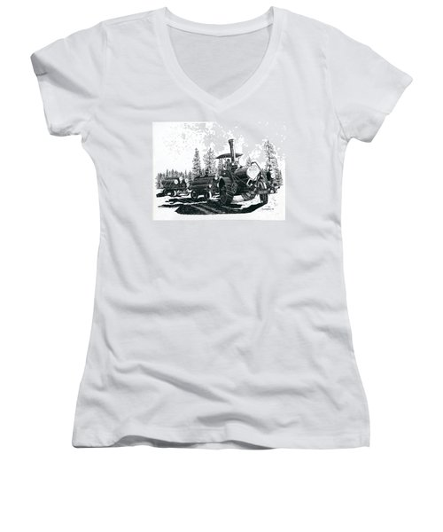 Best Steam Traction Engine Women's V-Neck (Athletic Fit)