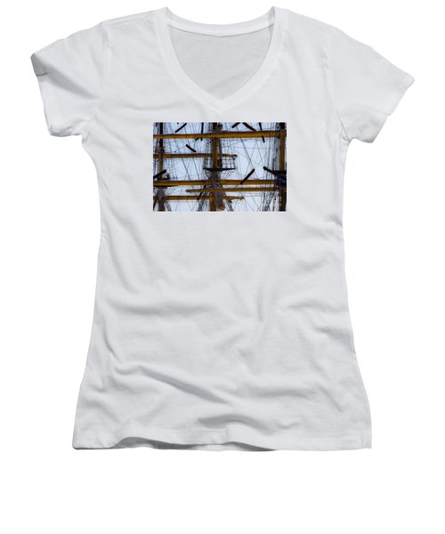 Between Masts And Ropes Women's V-Neck T-Shirt