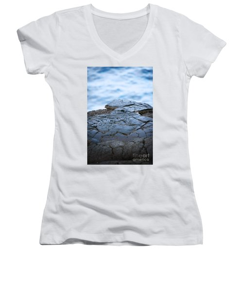 Women's V-Neck T-Shirt (Junior Cut) featuring the photograph Between You And Me by Ellen Cotton