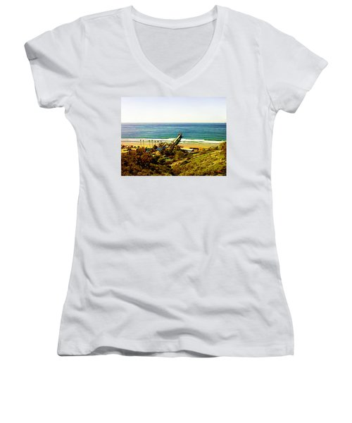 Birch Aquarium At La Jolla Women's V-Neck T-Shirt