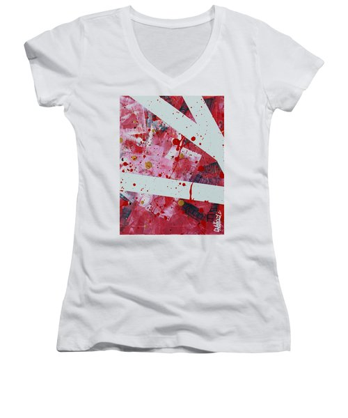 Blood On The Leaves Women's V-Neck