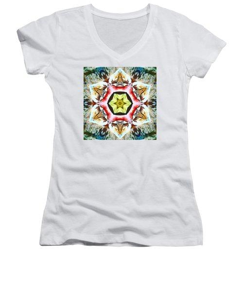Blooming Fibonacci Women's V-Neck
