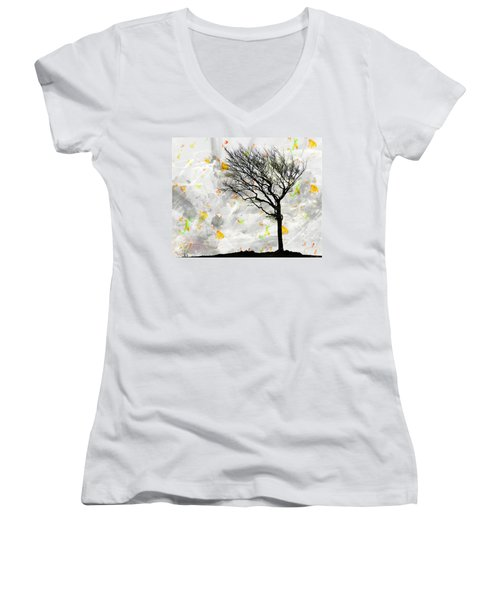 Blowing It The Wind Women's V-Neck