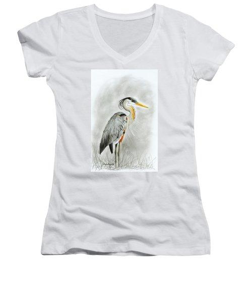 Blue Heron 3 Women's V-Neck