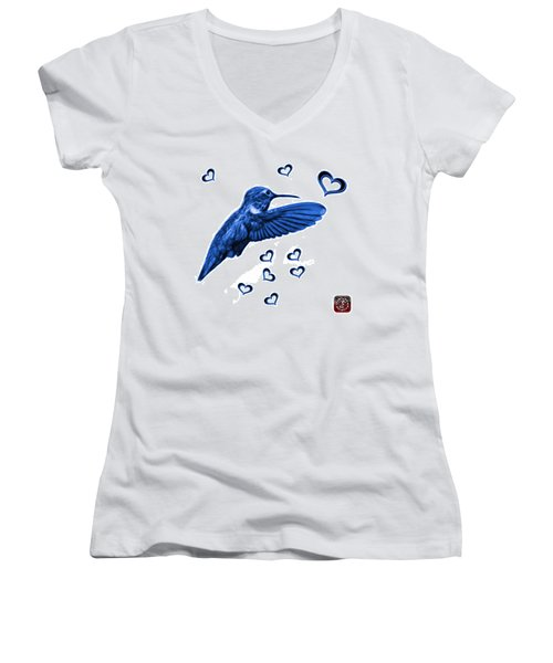 Blue Hummingbird - 2055 F S M Women's V-Neck