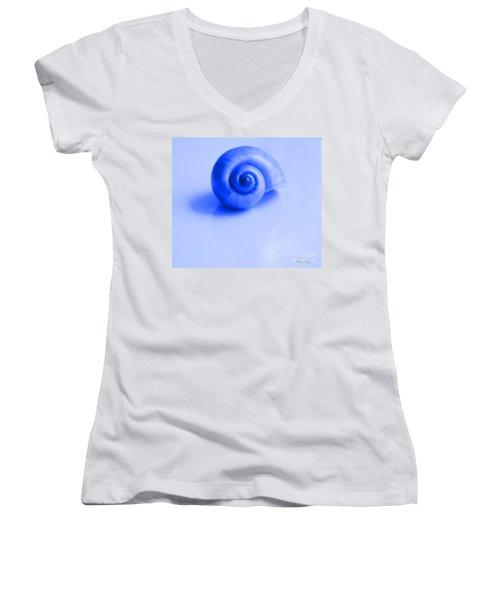 Blue Shell Women's V-Neck