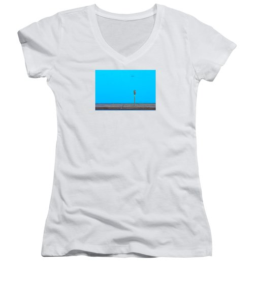 Blue Wall Parking Women's V-Neck T-Shirt