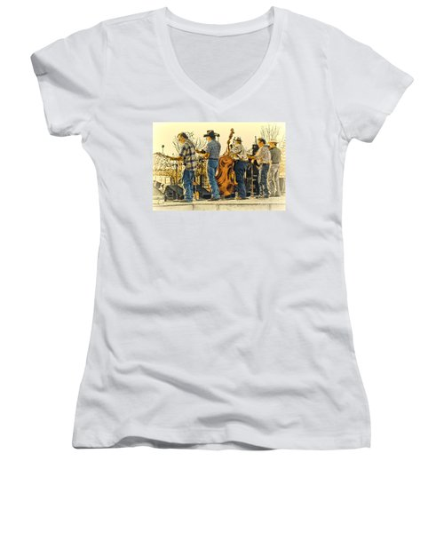 Bluegrass Evening Women's V-Neck T-Shirt