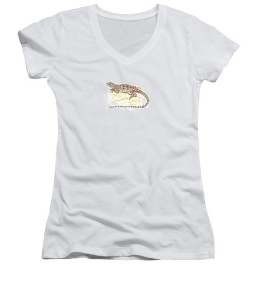 Blunt-nosed Leopard Lizard  Women's V-Neck T-Shirt