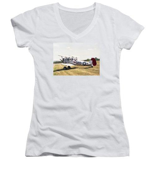 Boeing Stearman Women's V-Neck