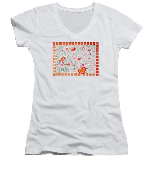 Bonds Of Love Women's V-Neck T-Shirt