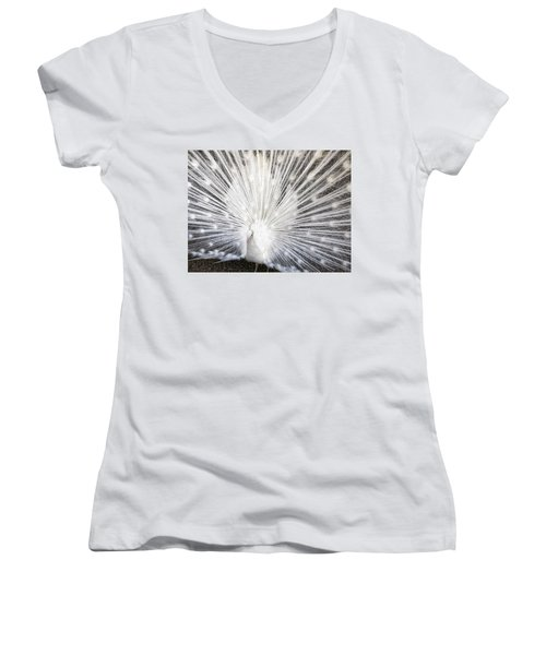 Women's V-Neck T-Shirt (Junior Cut) featuring the photograph Booya by Tammy Espino