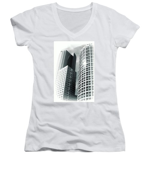 Boston Architecture Women's V-Neck (Athletic Fit)
