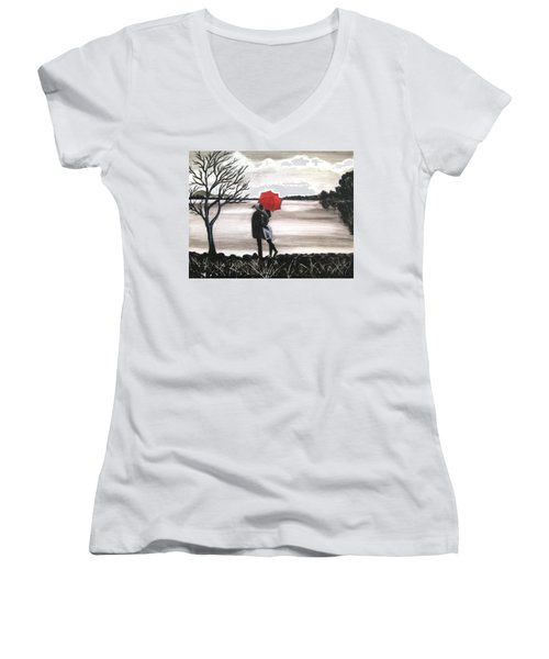 Love Is In The Air Women's V-Neck T-Shirt