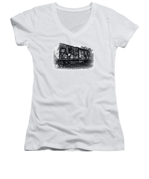 Box Car In High Key Hdr Women's V-Neck T-Shirt