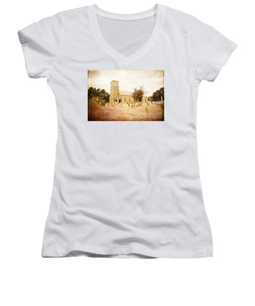 Brick Church In Montgomery Women's V-Neck T-Shirt