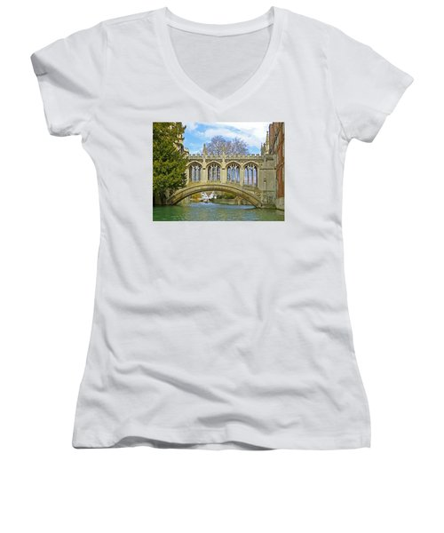Bridge Of Sighs Cambridge Women's V-Neck
