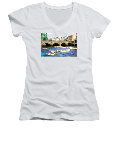 Bridge On The Garavogue Women's V-Neck (Athletic Fit)