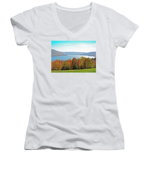 Bristol Harbour View Women's V-Neck T-Shirt