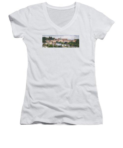 Britannia Royal Naval College Women's V-Neck T-Shirt
