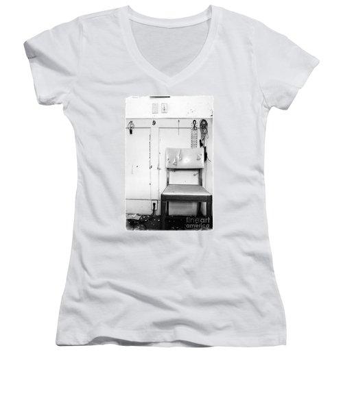 Broken Chair Women's V-Neck T-Shirt (Junior Cut) by Carsten Reisinger