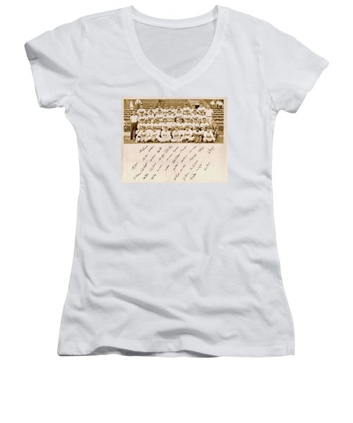 Brooklyn Dodgers Baseball Team Women's V-Neck