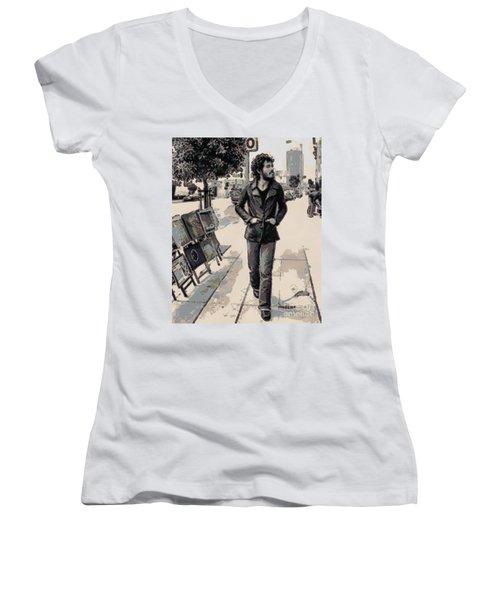 Bruce Springsteen Women's V-Neck