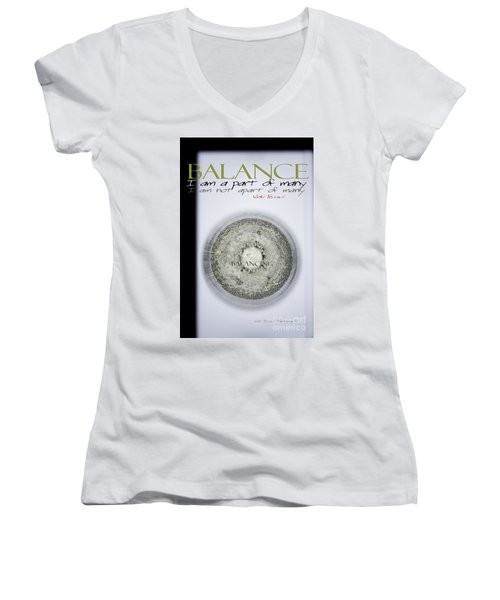 Women's V-Neck T-Shirt (Junior Cut) featuring the photograph Bubbles Balance Bubbles by Vicki Ferrari