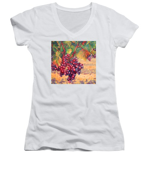 Bunch Of Grapes Women's V-Neck
