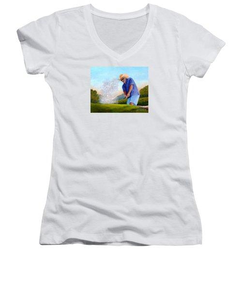 Bunker Shot Women's V-Neck T-Shirt