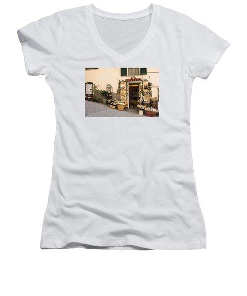 Burasca Shop Of Manarola Women's V-Neck
