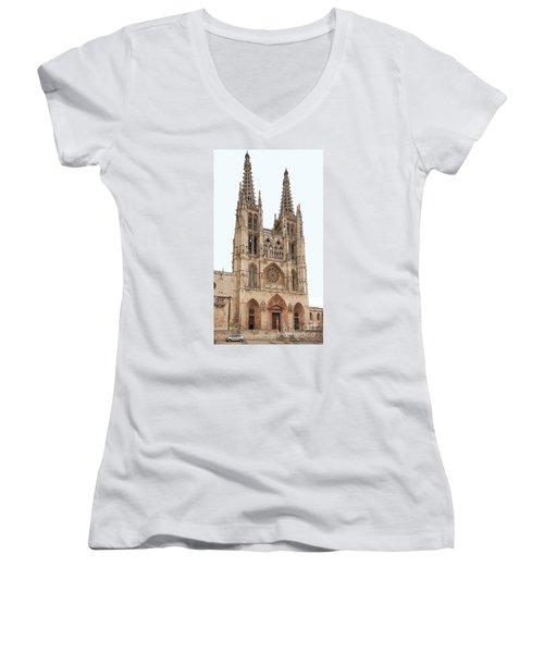 Burgos Cathedral Spain Women's V-Neck T-Shirt