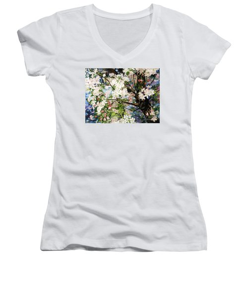 Burst Of Spring Women's V-Neck T-Shirt
