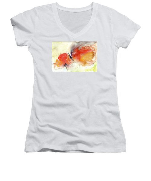 Butterfly Women's V-Neck T-Shirt