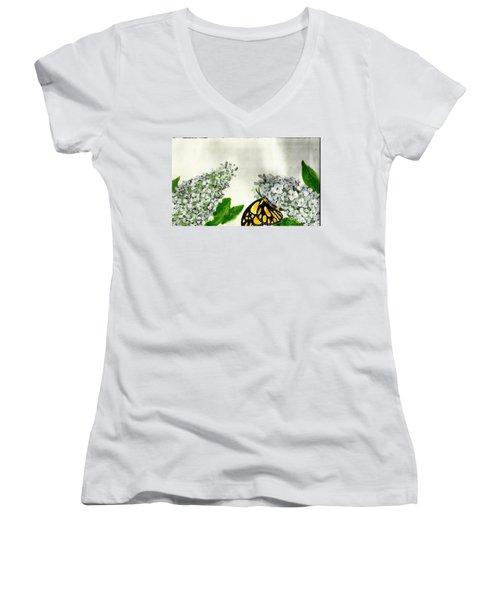 Butterfly Women's V-Neck T-Shirt (Junior Cut)