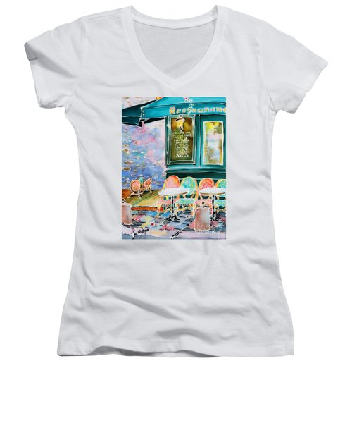 Cafe In Montmartre Women's V-Neck