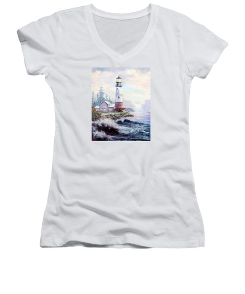 California Lighthouse Women's V-Neck (Athletic Fit)