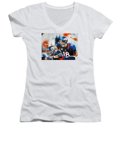 Peyton Manning Women's V-Neck T-Shirt