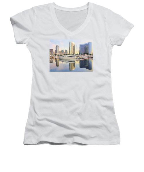 Calm Summer Morning Women's V-Neck T-Shirt