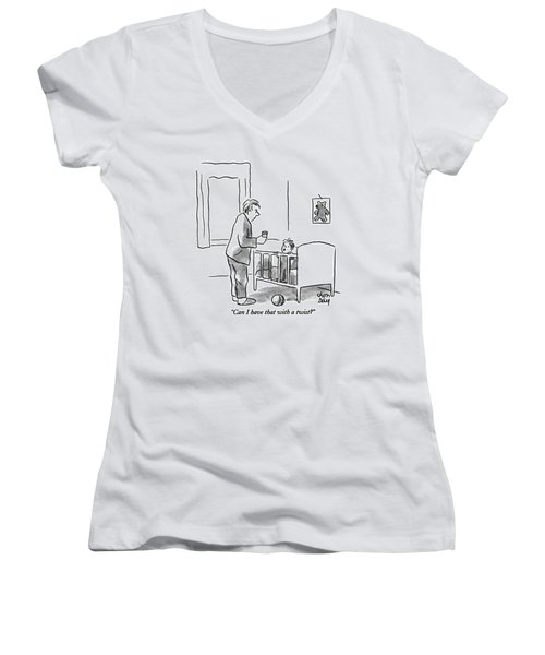 Can I Have That With A Twist? Women's V-Neck