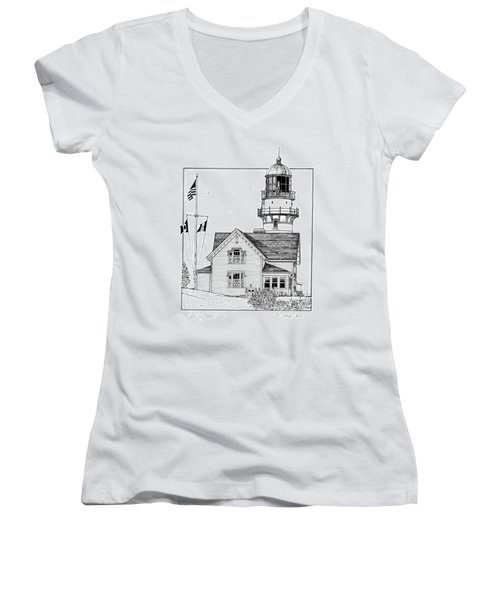 Cape Elizabeth Lighthouse Women's V-Neck (Athletic Fit)