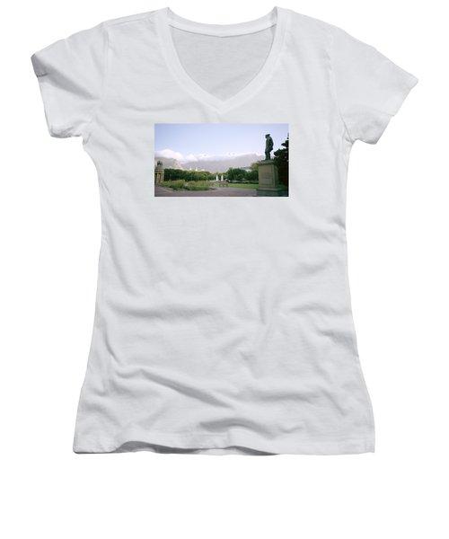 Cape Town Twilight Women's V-Neck T-Shirt (Junior Cut) by Shaun Higson