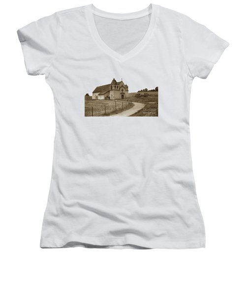 Carmel Mission Monterey Co. California Circa 1890 Women's V-Neck (Athletic Fit)