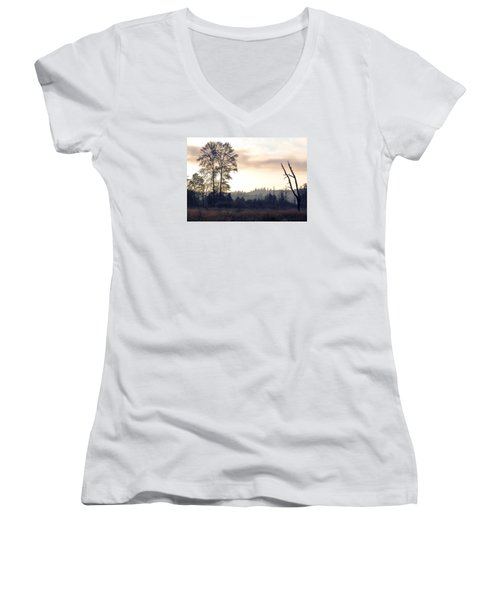 Women's V-Neck T-Shirt (Junior Cut) featuring the photograph Carpe Diem by I'ina Van Lawick