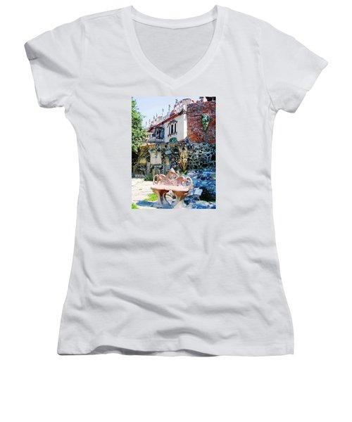 Casa Golovan Women's V-Neck T-Shirt (Junior Cut) by Oleg Zavarzin